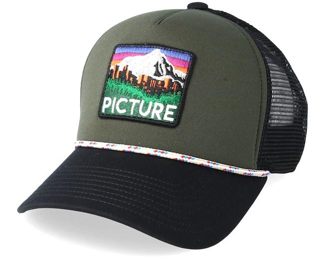 Denver Olive Black Trucker - Picture lippis - Hatstore.fi 0f14a26228