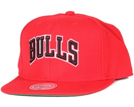 Chicago Bulls Wool Solid 2 Red Snapback - Mitchell & Ness