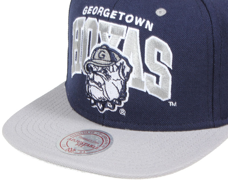 Georgetown hoyas team arch snapback mitchell ness caps for Georgetown tattoo shops