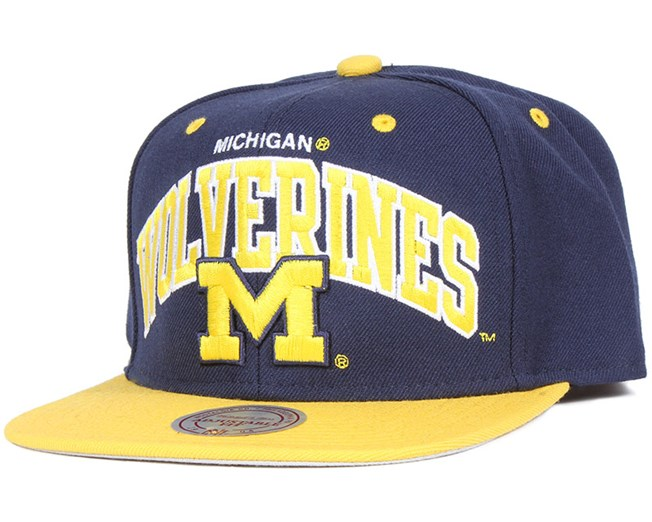 Michigan Wolverines Team Arch Snapback - Mitchell & Ness