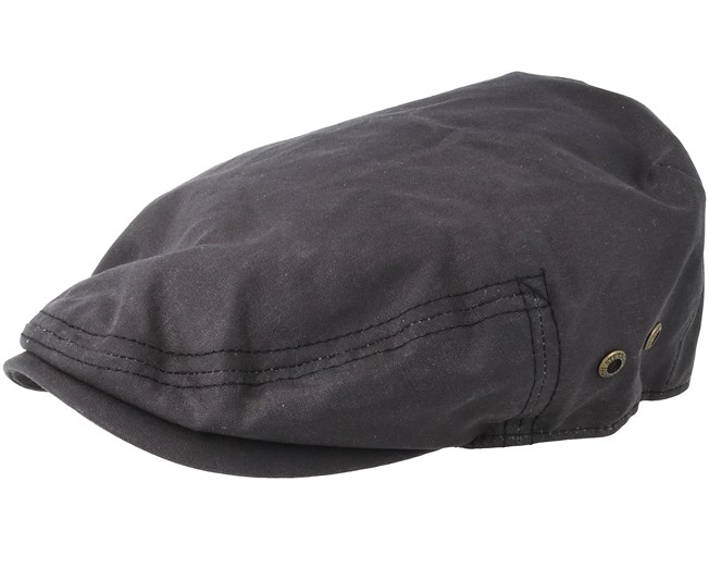 a179f1370de ... greece driver cap waxed cotton black flat cap stetson caps hatstore  34cee c45a6