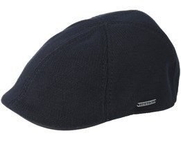 Texas Cotton Knit Black Flat Cap - Stetson