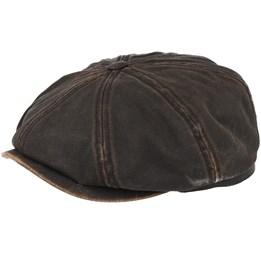 dfff8f37c3e Stetson Hatteras Co Pes Dark Brown Flat Cap - Stetson £59.99
