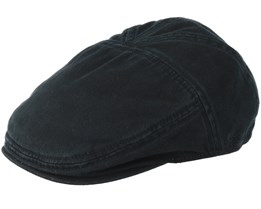 Ivy Cap Cotton Schwarz Flatcap - Stetson