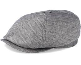 6-Panel Linen Fischgrat Grey Flat Cap - Stetson