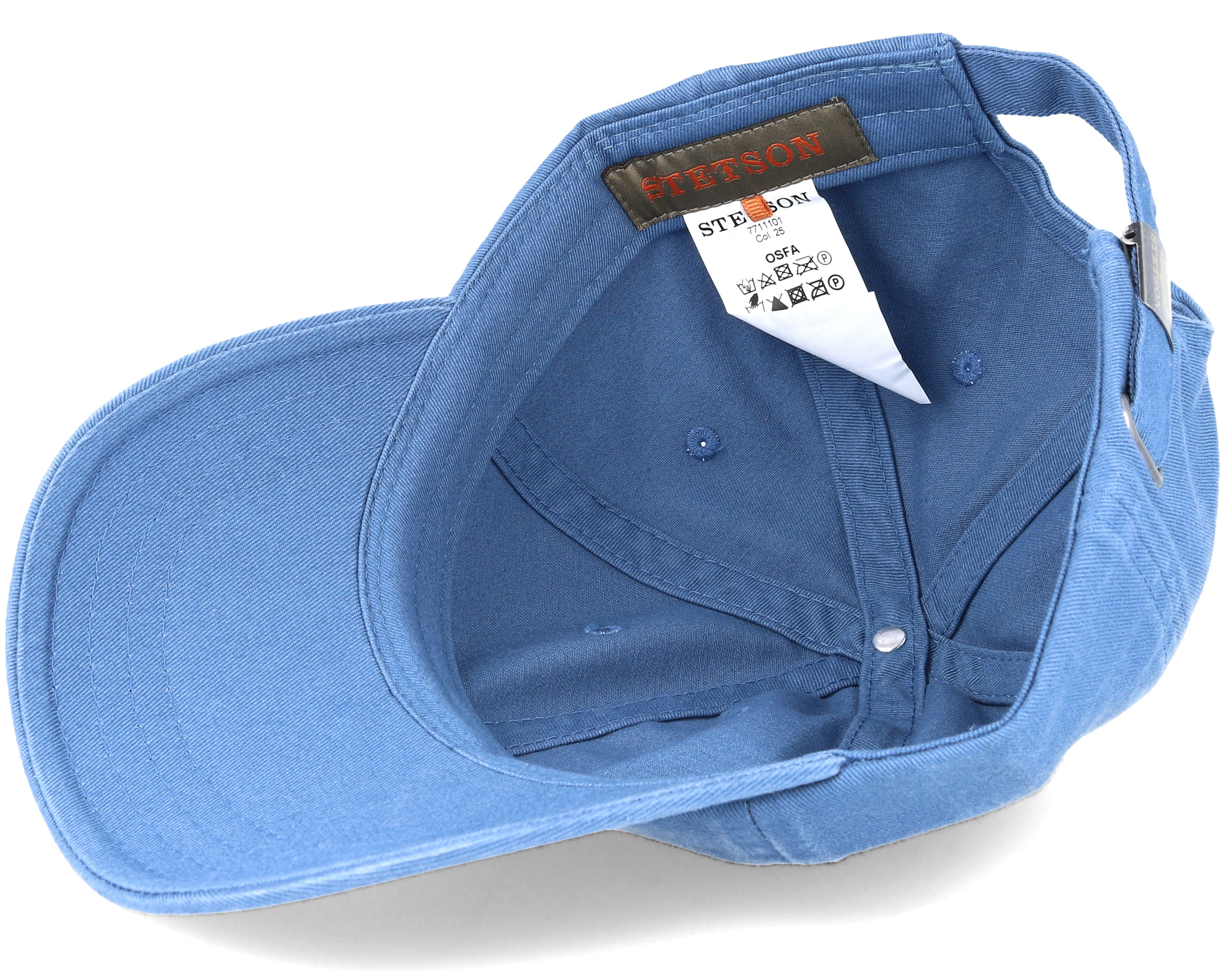 Baseball Cotton Light Blue Adjustable Stetson Caps