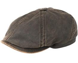 6-Panel Cap Co/Pes Schwarz Flatcap - Stetson