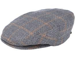 Ivy Linen Checkered Grey Flat Cap - Stetson