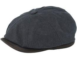 Hatteras Canvas Black Flat Cap - Stetson