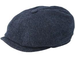 Hatteras Wool Dark Blue Flat Cap - Stetson