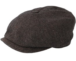 Hatteras Wool Dark Brown Flat Cap - Stetson