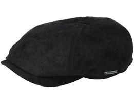 6-Panel Pigskin Black Flatcap - Stetson