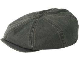 Hatteras Co/Pes 2 Black Flat Cap - Stetson