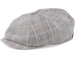 Hatteras Linen Check Grey Flat Cap - Rip Curl