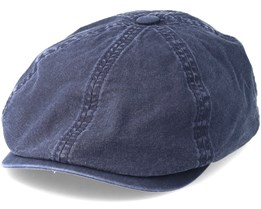 6-Panel Delave Organic Cotton Navy Flatcap - Stetson