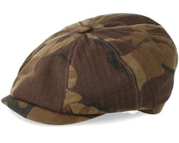 Hatteras Waxed Cotton Camouflage Flat Cap - Stetson