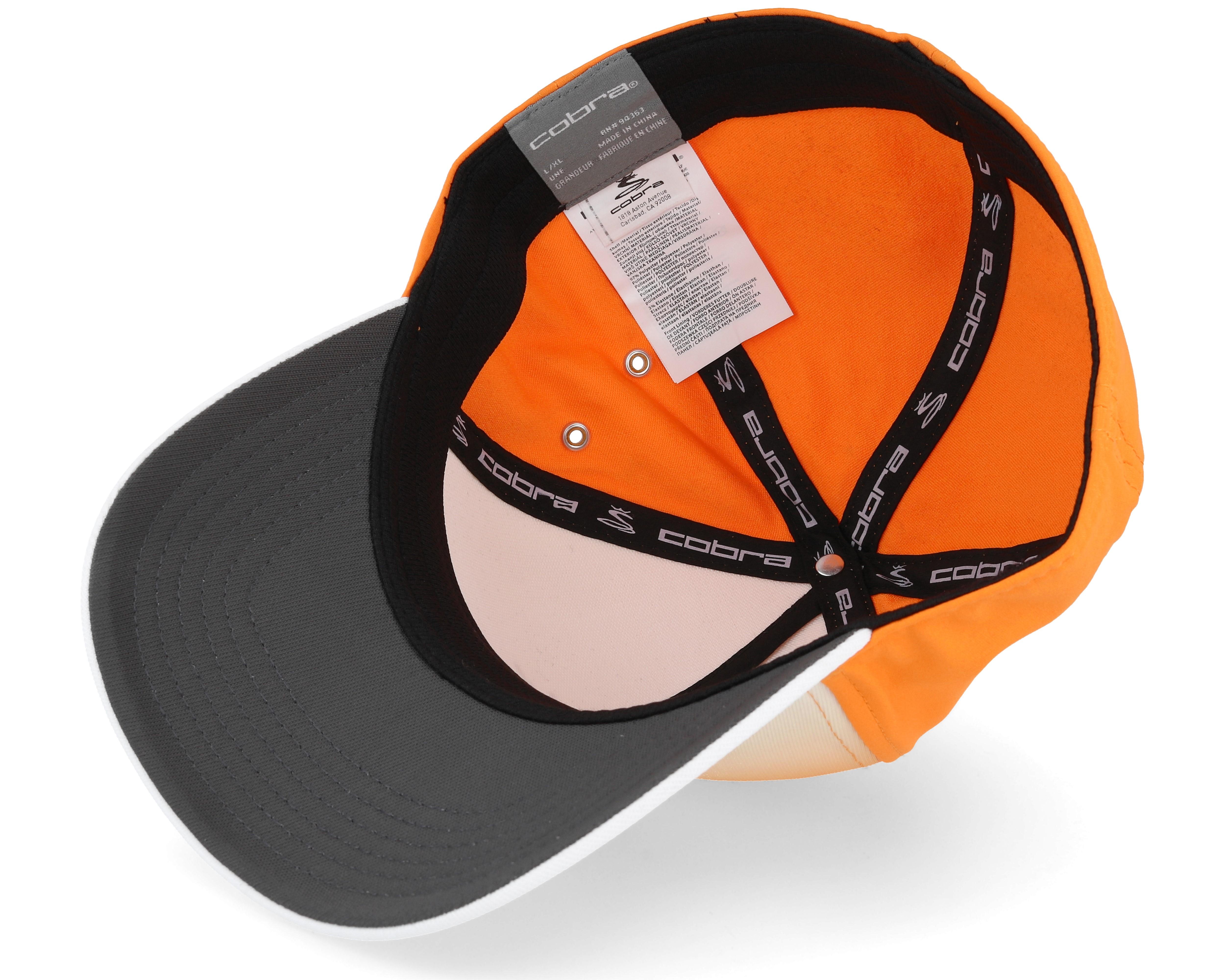 tour fade orange white multi flexfit cobra casquette. Black Bedroom Furniture Sets. Home Design Ideas