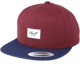 Pitchout 6-Panel Burgundy/Navy Snapback - Reell