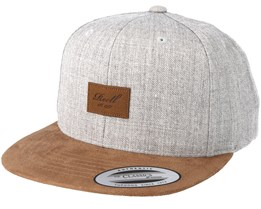 Suede 6-Panel Light Heather Grey Snapback - Reell