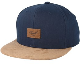 Suede 6-Panel Light Navy Snapback - Reell