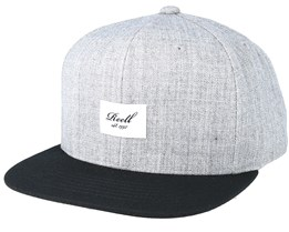 Pitchout 6-Panel Heather Grey/Black Snapback - Reell
