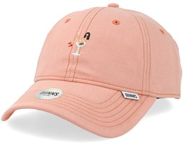 6 Panel Curved Jersey Girl Apricot Adjustable - Djinns