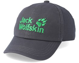 Kids Baseball Cap Dark Steel Grey Adjustable - Jack Wolfskin