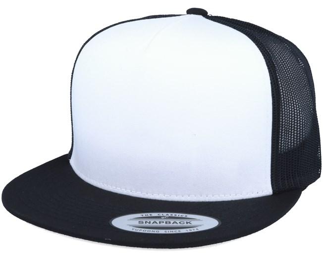 Classic Trucker White Black Snapback - Yupoong lippis - Hatstore.fi 4763a69295