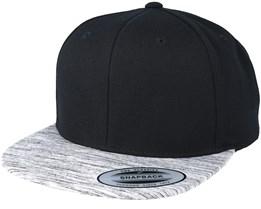 Black/Grey Melange Snapback - Yupoong