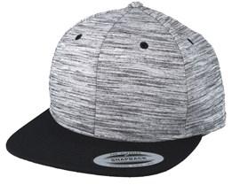 Grey Melange/Black Snapback - Yupoong