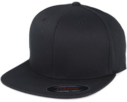 Flat Brim Black Fitted - Yupoong