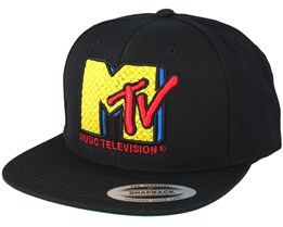 MTV Quilt Black Snapback - Mister Tee