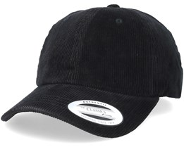 Dad Cap Manchester Black Adjustable - Yupoong