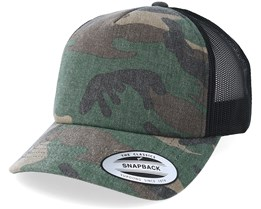 Wood Camo/Black Trucker - Yupoong