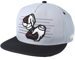 Ol´ School Grey/Black Snapback - Hands Of Gold