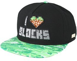 Blocks Black Snapback - Hands Of Gold