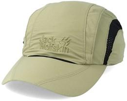 Vent Pro Cap Khaki Green Adjustable - Jack Wolfskin