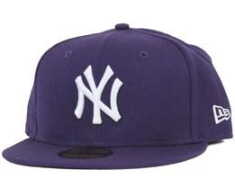 NY Yankees MLB Basic Purple 59Fifty - New Era
