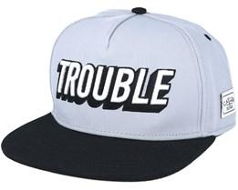 Trouble Grey Snapback - Cayler & Sons