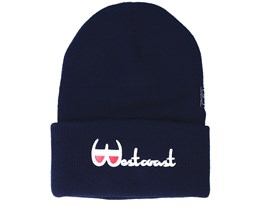 Westcoast Old School Navy Beanie - Cayler & Sons