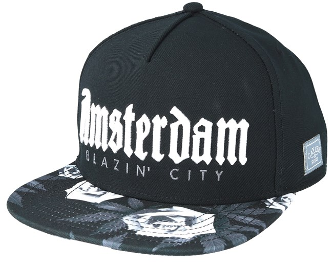 Amsterdam Black Snapback - Cayler   Sons caps - Hatstore.no d42b92a792c