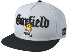 Left Side Garfield Grey Snapback - Cayler & Sons