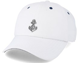 Stay Down Curved White/Navy Adjustable - Cayler & Sons
