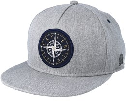 Navigating Heather Grey/Navy Snapback - Cayler & Sons
