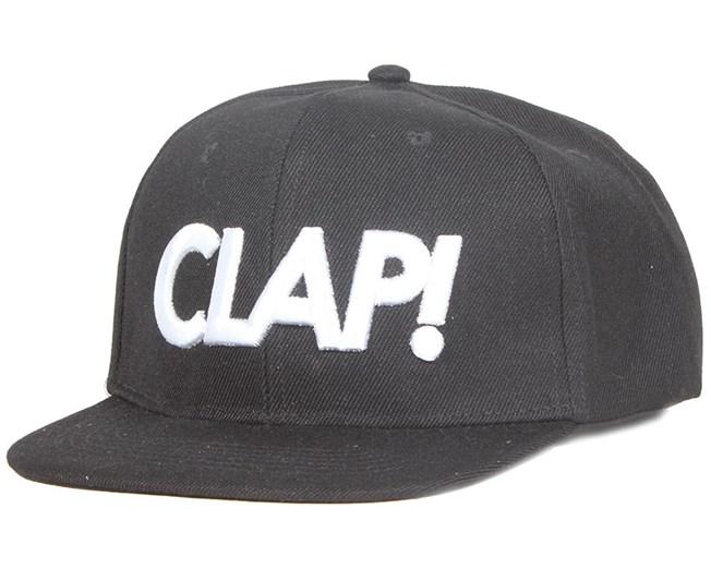 Clap Black Snapback - Somewear