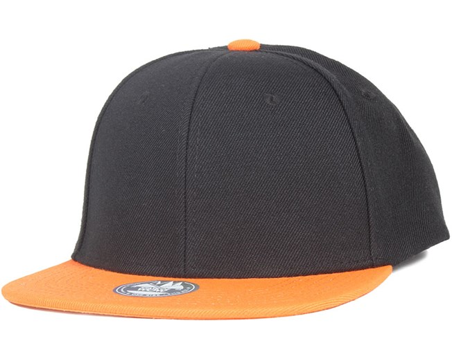 TWO TONE Black/Orange Snapback - State Of Wow