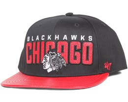 Chicago Blackhawks Redondo Black Snapback - 47 Brand