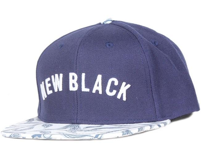 Vine Navy Snapback - New Black