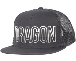 Swell Black Snapback - Dragon