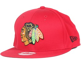 Chicago Blackhawks Cotton Block Scarlet 9Fifty Snapback - New Era